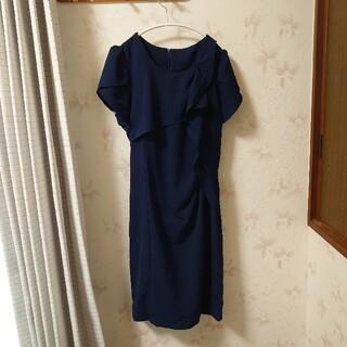 結婚式 二次会 紺 ネイビー ドレス
