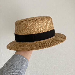 ネストローブ(nest Robe)のtandey 休日と詩 麦わら帽子 カンカン帽(麦わら帽子/ストローハット)