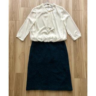 ザラ(ZARA)の柄がかわいい ミディアム丈スカート (ひざ丈スカート)