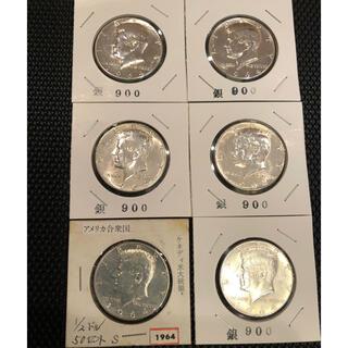 アメリカ銀貨 ケネディハーフダラー 綺麗未流通銀90%6枚セット販売です。(金属工芸)