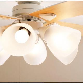 LOWYA  リバーシブルシーリングファンライト リモコン付き LED電球対応(天井照明)