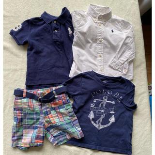 ラルフローレン(Ralph Lauren)のラルフローレン ポロシャツ Tシャツ カットソー ハーフパンツ シャツ 24M(Tシャツ/カットソー)