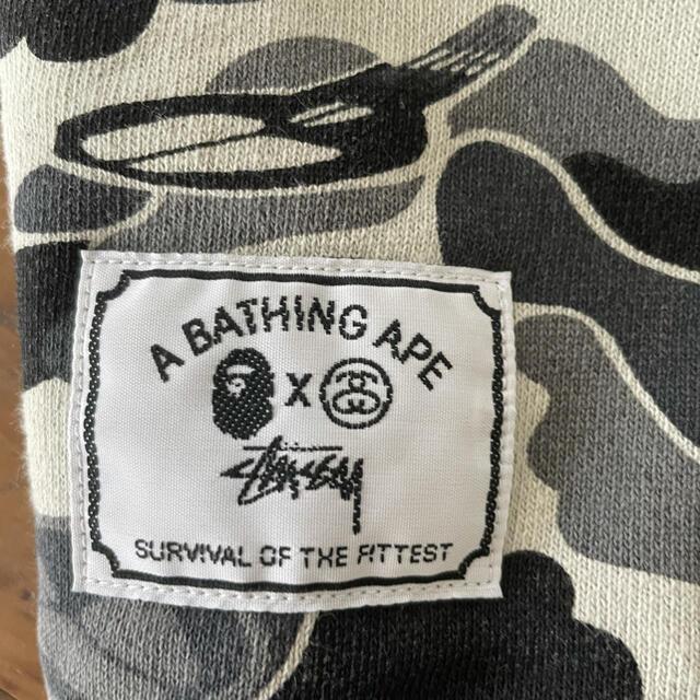 A BATHING APE(アベイシングエイプ)のAPE×STUSSYのコラボパーカー エイプ ステューシー メンズのトップス(パーカー)の商品写真