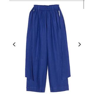 ハイク(HYKE)の希少 新品HYKE  LINEN EASY PANTS  ブルー(カジュアルパンツ)