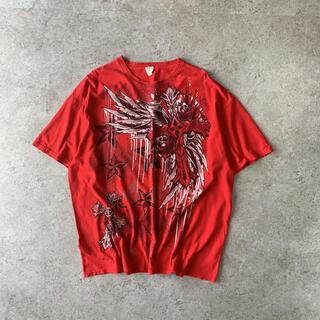 ギルタン(GILDAN)のGILDAN プリントTシャツ 総柄 奇抜 個性的(Tシャツ/カットソー(半袖/袖なし))
