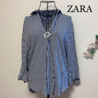 ZARA - ZARA woman スキッパーシャツ ストライプ S