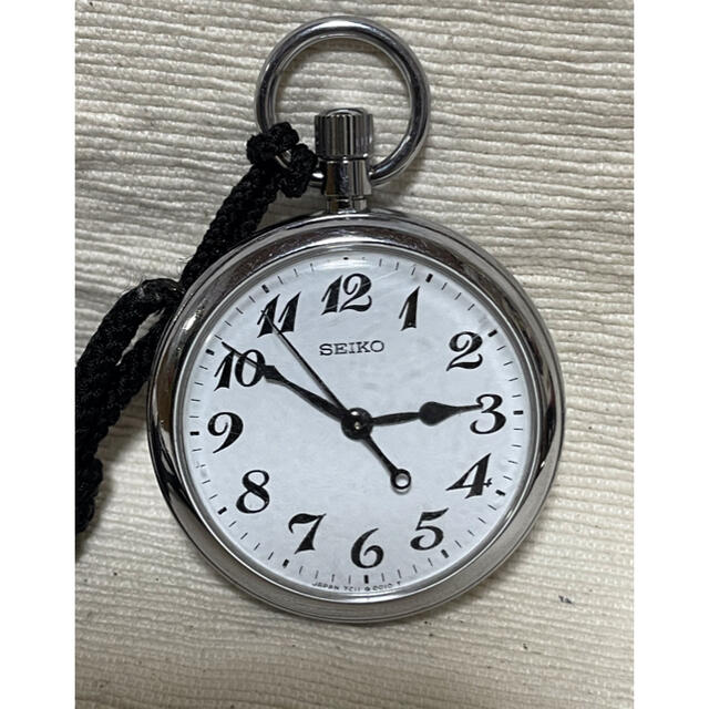 SEIKO(セイコー)のSEIKO  懐中時計 鉄道時計 電池交換済 7C11-0010 インテリア/住まい/日用品のインテリア小物(置時計)の商品写真