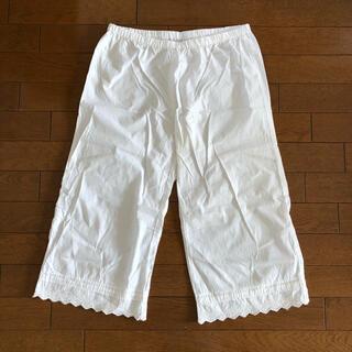 MUJI (無印良品) - 無印良品 ペチパンツ 61センチ 綿 100% 白 ホワイト