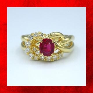 ルビー ダイヤモンド K18 イエローゴールド リング (リング(指輪))