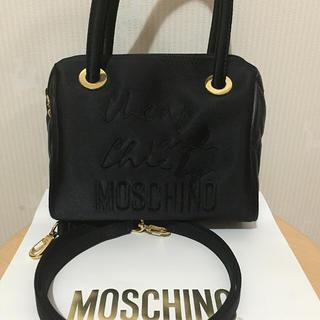 モスキーノ(MOSCHINO)のMOSCHINO ボストン型 2ウェイショルダーバック 美品✨(ショルダーバッグ)