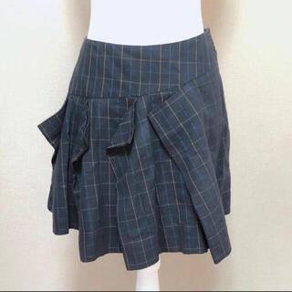 ヴィヴィアンウエストウッド(Vivienne Westwood)の変形プリーツスカート サイズ40(ミニスカート)