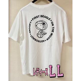 ピーナッツ(PEANUTS)の新品 スヌーピー ウッドストック Tシャツ  半袖 レディース LLサイズ(Tシャツ(半袖/袖なし))