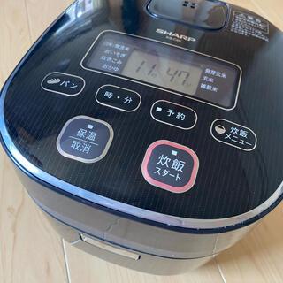 シャープ(SHARP)のSHARP KS-C5J-B シャープ 炊飯器 3号炊き(炊飯器)