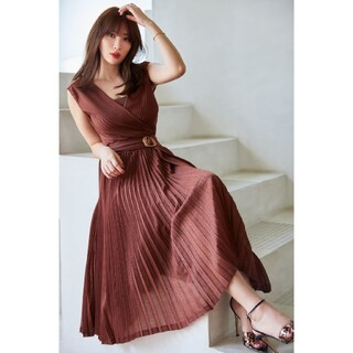 Twinkle Pleated Knit Dress♡Her lip to