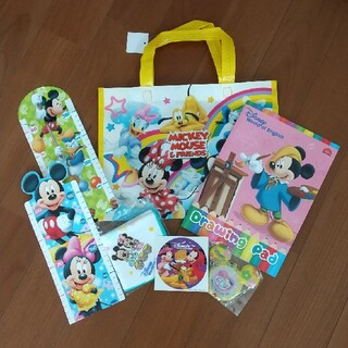 ディズニー(Disney)の【Disney】バッグ タオル 身長計 文具 8点セット(キャラクターグッズ)