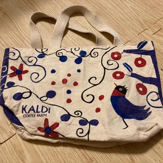 カルディ(KALDI)のカルディ ランチトートバッグ ミニバッグ バードフレンドリー エコバッグ 手提げ(トートバッグ)