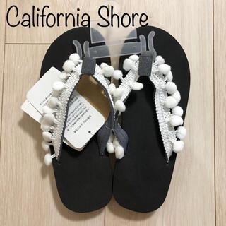 新品 California Shore ポンポン ビーチサンダル ビーサン L
