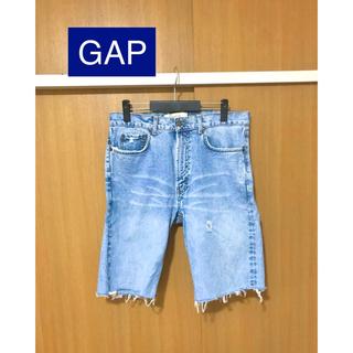 GAP - ギャップ GAP カットオフ&ダメージ メンズ ショートデニム・ジーンズ