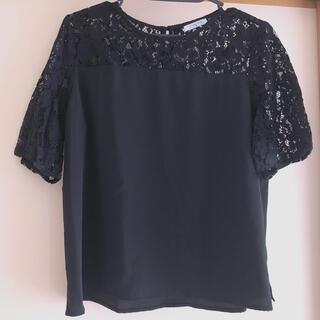 ハニーズ(HONEYS)のハニーズ レース切替ブラウス Mサイズ(Tシャツ(半袖/袖なし))