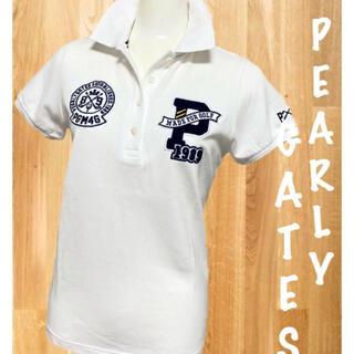 PEARLY GATES - 美品⛳️パーリーゲイツ 半袖ポロシャツ レディース ゴルフウェア