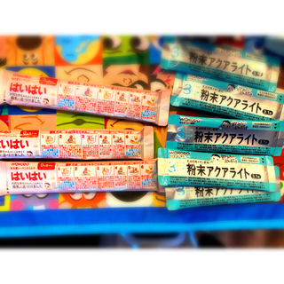 ワコウドウ(和光堂)の幼児用アクアライト  ハイハイ 粉ミルク 8本セット(その他)