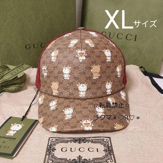 Gucci - 【完売品】☆新品☆ GUCCI × ドラえもん キャップ XL 帽子