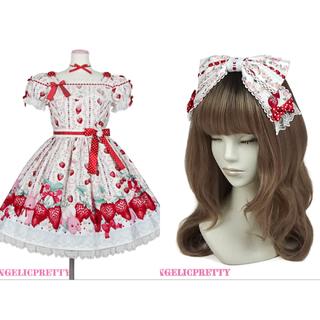 Angelic Pretty - Little Bunny Strawberry ワンピース 白