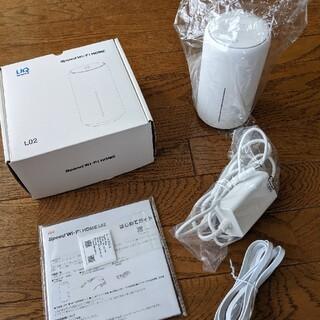 ファーウェイ(HUAWEI)のspeed Wi-Fi HOME L02(2021年6月30日まで保証あり)(PC周辺機器)