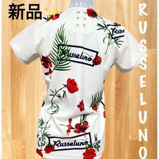 MARK&LONA - 新品⛳️ラッセルノ  花柄 ボタニカル  半袖ポロシャツ  レディース
