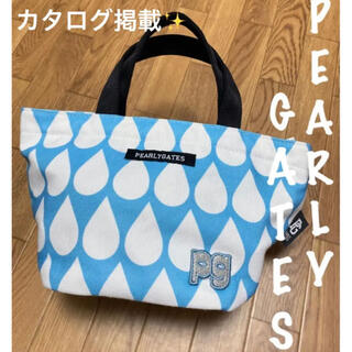 パーリーゲイツ(PEARLY GATES)の美品⛳️パーリーゲイツ  レインドロップ柄  カートバッグ  ラウンドバッグ(バッグ)
