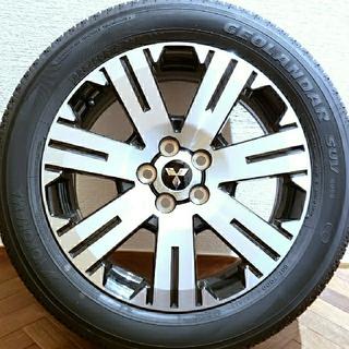 ミツビシ(三菱)の【新車外し】新型デリカD5 純正アルミホイール・タイヤ 4本セット(タイヤ・ホイールセット)
