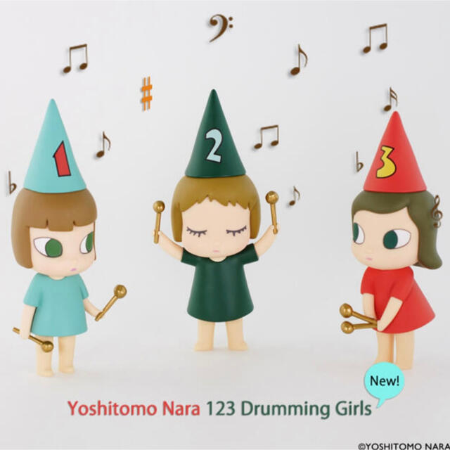 ❶奈良美智 フィギュア ドラミング・ガール123 123 Drumming  エンタメ/ホビーのフィギュア(その他)の商品写真