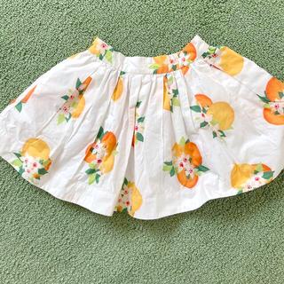 ケイトスペードニューヨーク(kate spade new york)の美品 ケイトスペード  スカート  オレンジ 110(スカート)