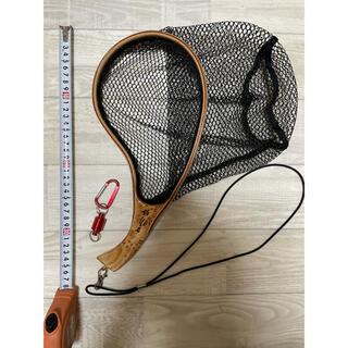 渓流 ランディングネット 木製 曲柄 釣りネオジウム磁石 小型 (釣り糸/ライン)