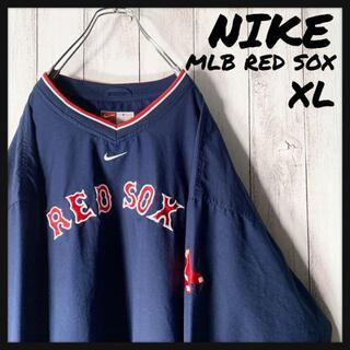 ナイキ(NIKE)の【MLB XL】ナイキ NIKE レッドソックス 刺繍 ナイロン ゲームシャツ(ナイロンジャケット)