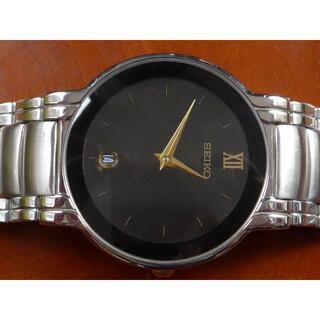 セイコー(SEIKO)の【 極 美 品 】 SEIKO メンズ 文字盤ブラック クォーツ(腕時計(アナログ))