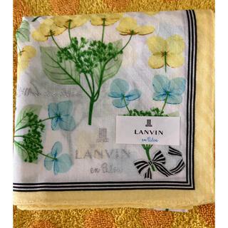 ランバン(LANVIN)のランバン ハンカチ 額紫陽花(ハンカチ)