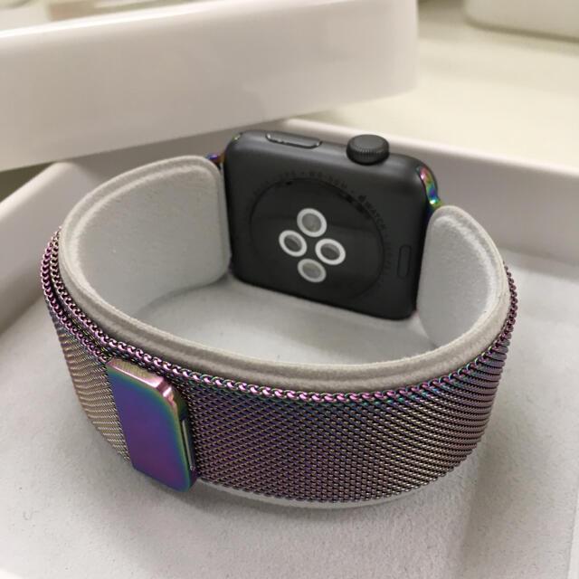 Apple Watch(アップルウォッチ)のApple Watch series2 黒 42mm アップルウォッチ スマホ/家電/カメラのスマートフォン/携帯電話(その他)の商品写真