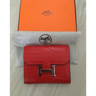Hermes - HERMESエルメス二つ折り財布新品赤レッドコンスタンス