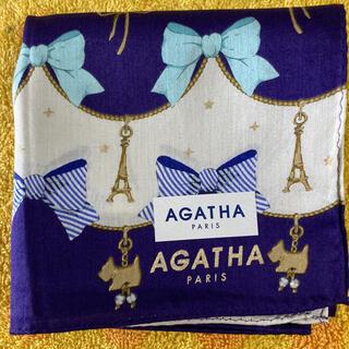 アガタ(AGATHA)のアガタ ハンカチ リボン仔犬エッフェル塔(ハンカチ)