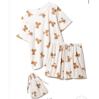 gelato pique - 【ONLINE限定】ベアモチーフ抗菌防臭Tシャツ&ショートパンツ&巾着SET