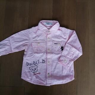 ダブルビー(DOUBLE.B)のミキハウスダブルビー シャツ 長袖 80cm(シャツ/カットソー)