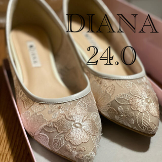 DIANA - DIANA ダイアナ チュール 刺繍 花柄 レース パンプス 箱付き