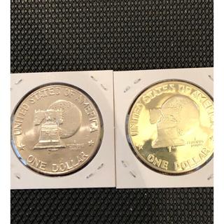 アメリカ銀貨 アイゼンハワー大統領 1ドル銀貨 シルバー40% 白銅貨硬貨セット(金属工芸)