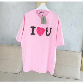 Balenciaga - Balenciaga ♡プリント コットン Tシャツ オーバーサイズ