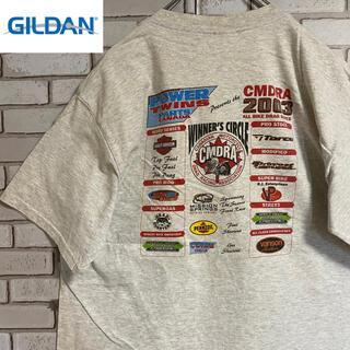 ギルタン(GILDAN)の90s 古着 ギルダン メキシコ製 両面プリント ビッグシルエット ゆるだぼ(Tシャツ/カットソー(半袖/袖なし))