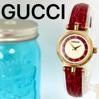 グッチ(Gucci)の66 GUCCI グッチ時計 レディース腕時計 シェリーライン パープル レッド(腕時計)
