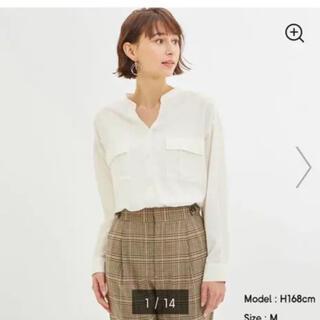 GU - GU ジーユー ワークスキッパーシャツ