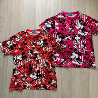 ディズニー(Disney)のミッキー ミニー ペアTシャツ 半袖(Tシャツ(長袖/七分))
