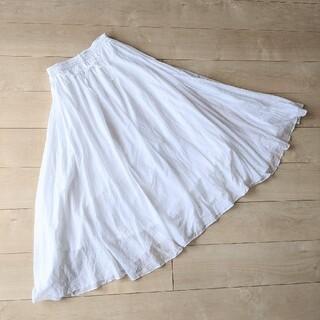 IENA - イエナIENA♡ホワイトロングフレアスカート
